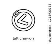 left chevron icon. trendy... | Shutterstock .eps vector #1218930385