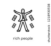 rich people icon. trendy modern ... | Shutterstock .eps vector #1218930538