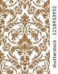 vector damask seamless pattern... | Shutterstock .eps vector #1218933952