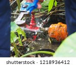 leaked at water miter are being ...   Shutterstock . vector #1218936412