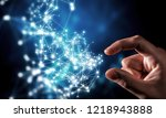 new technologies for connection.... | Shutterstock . vector #1218943888