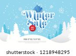 winter sale background template ...   Shutterstock .eps vector #1218948295
