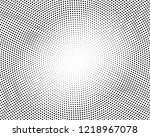 abstract monochrome halftone... | Shutterstock .eps vector #1218967078