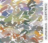 exploded modern pattern ... | Shutterstock .eps vector #1218978952