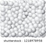 gray scale shaded 3d balls... | Shutterstock .eps vector #1218978958