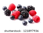 Fresh berry on a white  background - stock photo