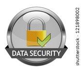 vector icon data security | Shutterstock .eps vector #121898002