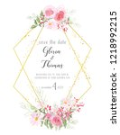 greeting card for the wedding... | Shutterstock . vector #1218992215
