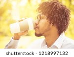 coffee can fix your day.... | Shutterstock . vector #1218997132