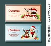 christmas season snowman... | Shutterstock .eps vector #1218997228