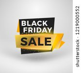 black friday sale sticker.... | Shutterstock .eps vector #1219000552