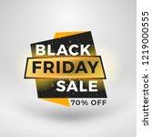 black friday sale sticker.... | Shutterstock .eps vector #1219000555
