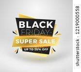 black friday sale sticker.... | Shutterstock .eps vector #1219000558