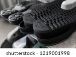 the conveyor on a shoes factory ... | Shutterstock . vector #1219001998