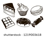 do you like sweets    then you... | Shutterstock .eps vector #1219003618