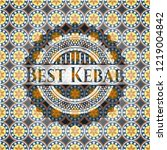 best kebab arabic badge... | Shutterstock .eps vector #1219004842