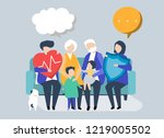 characters of an extended...   Shutterstock .eps vector #1219005502