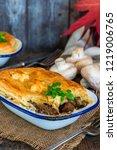 steak and mushroom pie on...   Shutterstock . vector #1219006765