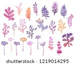 willow and palm tree branches ...   Shutterstock .eps vector #1219014295