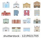 buildings set. buildings set.... | Shutterstock .eps vector #1219021705