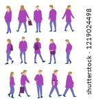 set of people outfit... | Shutterstock .eps vector #1219024498