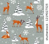 beautiful seamless pattern with ... | Shutterstock .eps vector #1219027525