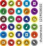 white solid icon set  scraper...   Shutterstock .eps vector #1219028032