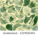 tropical frond palm leaf for... | Shutterstock . vector #1219032442