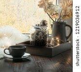 still life in home interior....   Shutterstock . vector #1219036912