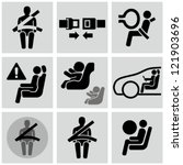 car safety belt icons. baby in... | Shutterstock .eps vector #121903696