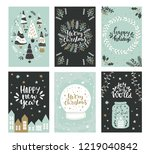 collection of christmas... | Shutterstock .eps vector #1219040842