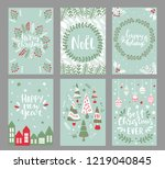 collection of christmas... | Shutterstock .eps vector #1219040845