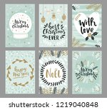 collection of christmas... | Shutterstock .eps vector #1219040848