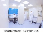 group of scientists working at... | Shutterstock . vector #121904215