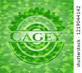 Cagey Green Emblem With Mosaic...