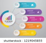 simple   editable 5 steps... | Shutterstock .eps vector #1219045855