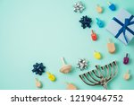 jewish holiday hanukkah...   Shutterstock . vector #1219046752