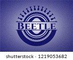 beetle with jean texture | Shutterstock .eps vector #1219053682