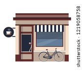 restaurants and shops facade ... | Shutterstock .eps vector #1219058758
