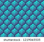 geometric leaves vector... | Shutterstock .eps vector #1219065535