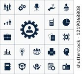 vector set of business icons.... | Shutterstock .eps vector #1219068808