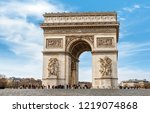 the triumphal arch is one of... | Shutterstock . vector #1219074868