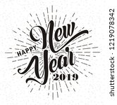 happy new year 2019   vector... | Shutterstock .eps vector #1219078342