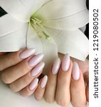 nude nails against the... | Shutterstock . vector #1219080502