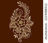 mehndi flower pattern in frame... | Shutterstock .eps vector #1219088512