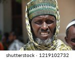 head of a tribe in africa ... | Shutterstock . vector #1219102732
