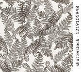 fern herbs  tropical forest... | Shutterstock .eps vector #1219105948