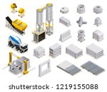 concrete production set of... | Shutterstock .eps vector #1219155088
