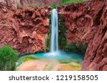 mooney falls  grand canyon ... | Shutterstock . vector #1219158505