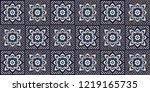 talavera pattern. azulejos... | Shutterstock .eps vector #1219165735